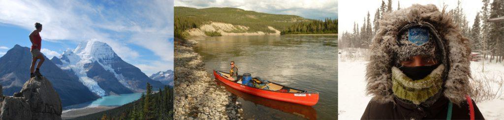 Drei kleine Bilder aus Kanada - Berg Lake - Kanu Yukon - Winter